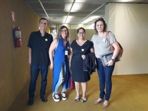 TSP Rodrigo, TSP Claudia, Assessora Parlamentar do CFP, Cleonice Dorneles e a presidente da Apropens, TSP Luciane Engel.