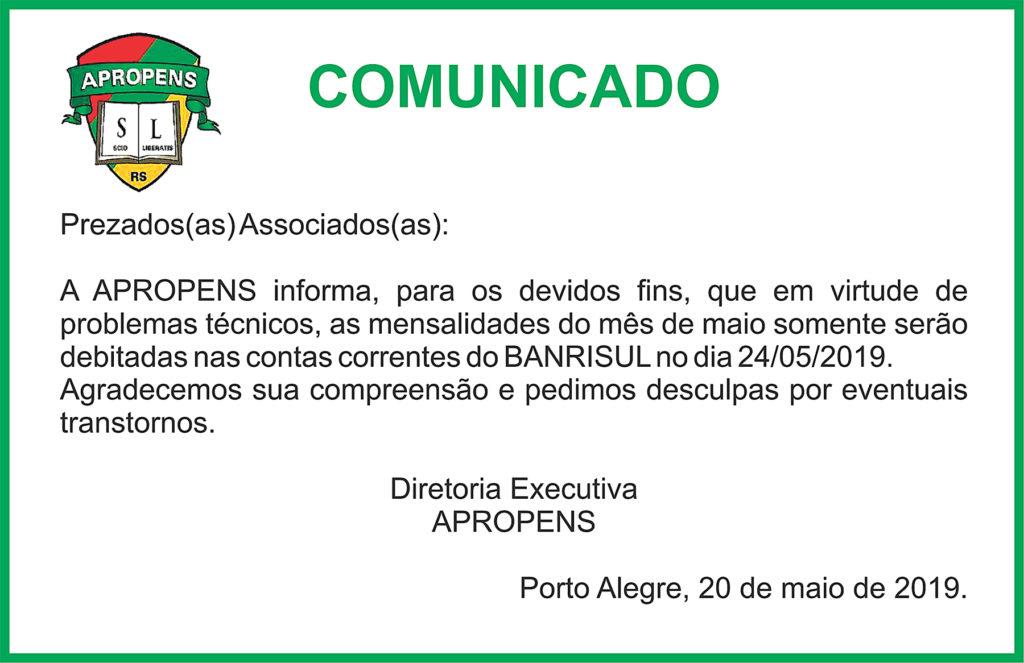 20-5-19 Comunicado